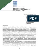 PRESIDENCIALISMO Y GOBERNABILIDAD