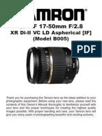 Tamron Lens Manual
