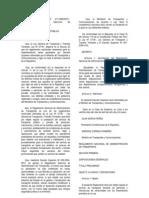 Decreto Supremo N° 017-2009-MTC
