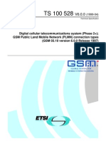 ETSI TS 100 528 GSM PLMN Connection Types