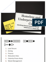 Homeless and Underprivileged Citizens - DeSIGN