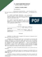 Job Contract for Logistics