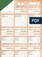 Warhammer Roster Sheet