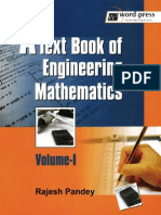 Text Book of Engineering Mathematics. Volume I