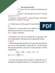 Bài tập Hoá Phân tích chương 1-2