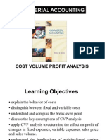 6. Cost Volume Profit Analysis