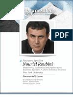 Nouriel Roubini is Documented@Davos