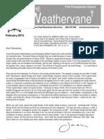 February Weathervane 2012