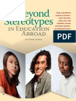 Beyond Stereotypes in Education Abroad