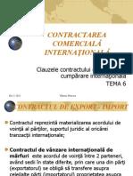 Contractarea comerciala internationala