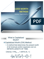 Capitalized Worth Method