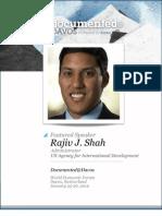 Rajiv Shah is Documented@Davos Transcript