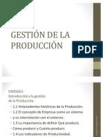 GESTION DE LA PRODUCCIÓN