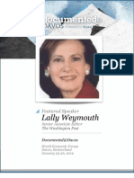 Lally Weymouth Documented@Davos Transcript