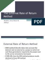 The External Rate of Return Method