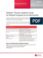 MS AdCenter Desktop Remote Install Guide
