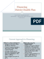 Financing of District Health Plan