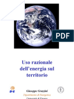 Giuseppe Grazzini. Uso razionale dell'energia sul territorio