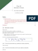 Clase02 - Derivada vectorial.