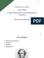Michael Atiyah- Kelvin Lecture