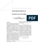 Newton's Law of Cooling: Finding the Time of Death of a