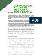 Visione Osteopatica sulla MALOCCLUSIONE in ambito SPORTIVO descrizione di aIcuni TEST