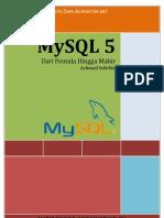 mYSQL DariPemulaHinggaMahir