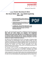 Press Release_Experton Cloud Vendor Benchmark 2012