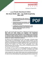 Press Release_Experton Cloud Vendor Benchmark 2012