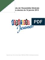 Assemblée Générale Espéranto-Jeunes - 14 janvier 2012