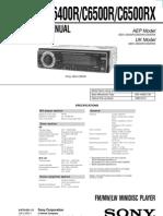 Sony MDX-C6400R Service Manual