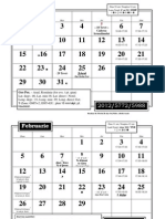 Calendar 2012-2013 pt Arad