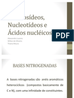 Nucleosídeos, Nucleotídeos e Ácidos nucléicos