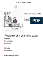 The Anatomy of a Scientific Paper - Matcheri S. Keshavan