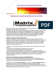 Einladung Matrix Transformation  1+2 Seminarbeschreibung  alle Termine  Frühjahr 2012