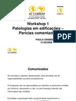 Patologias em Edificações - Perícias comentadas - Work shop