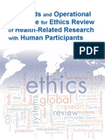 OMS - Standards and Operational Guidance for Ethics Review of Research With Human Participants - 2011