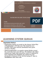Learning System and Method Memorize Al- Quran