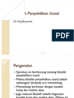 Falsafah Penyelidikan Sosial