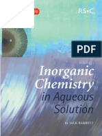 Inorganic Chemistry in Aq. Solutions