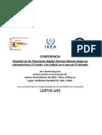 Conferencia Situación de las Floraciones Algales Nocivas en  Latinoamérica y El Caribe