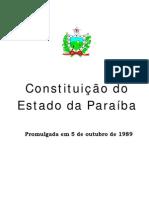CONSTITUIÇÃO DO ESTADO DA PARAÍBA de 05-10-1989