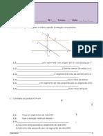 Ficha 1 - Recta, Semi-rectas e Segmentos de Recta
