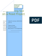 Engineering Soil on a Road Project
