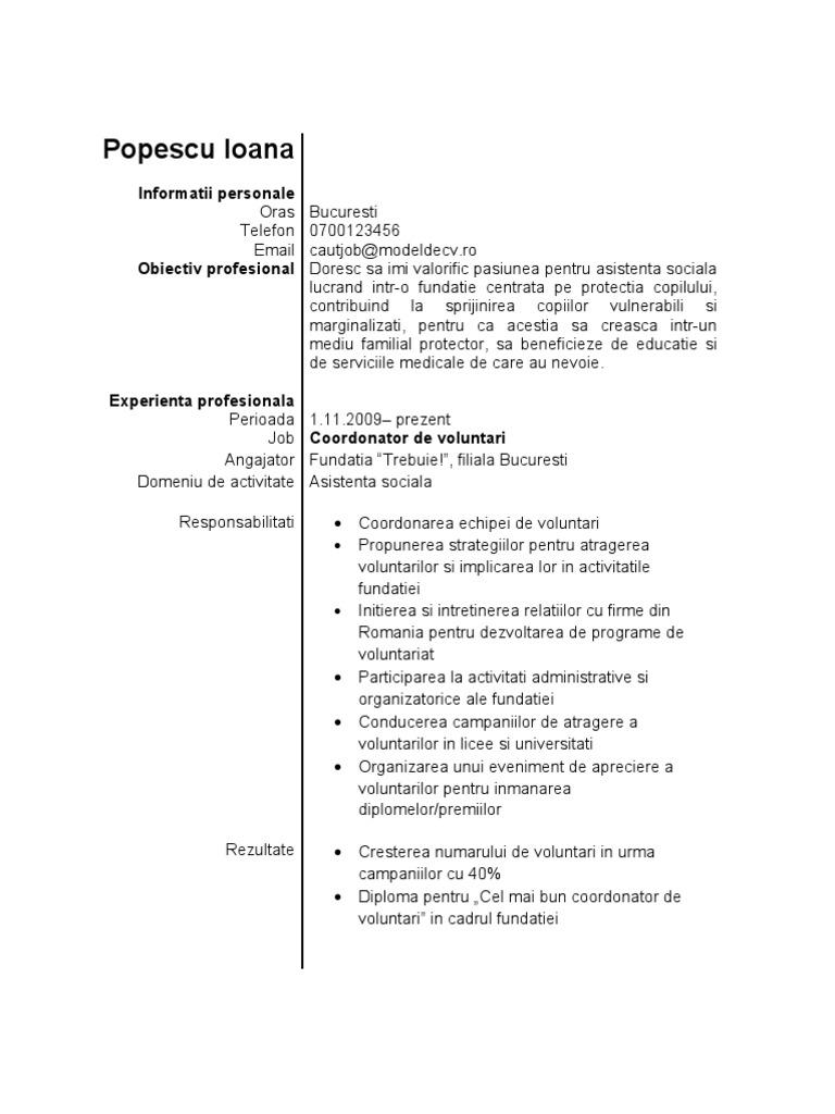 Model de cv student yelopaper Choice Image