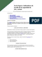 Formulación de logros e indicadores de logro