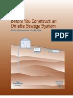 On Site Sewage Construction