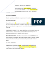 CONTRATO DE LOCAÇÃO DE IMÓVEL