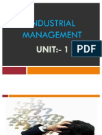Industrial Management(Unit 1)