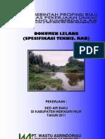 Laporan Dokumen Lelang Ded Air Baku Inhil